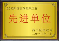 2012年度民间组织工作先进单位